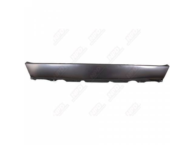 Panel, Rear Valance, W/O Exhaust Tip Cutouts, Edp Coated, Oe Style