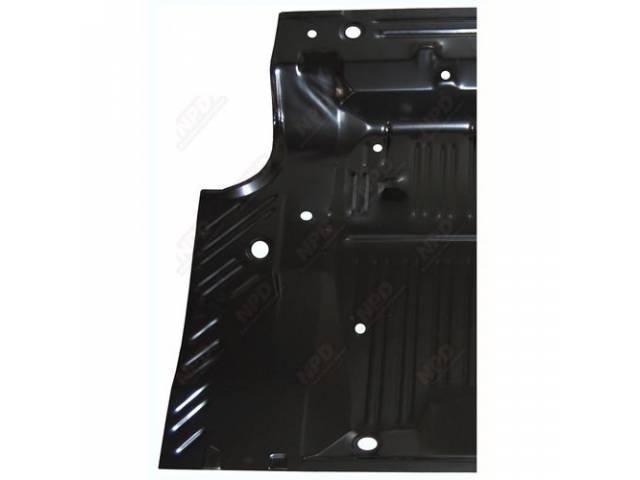 TRUNK FLOOR 2 PIECE DESIGN LH CORRECT STAMPING
