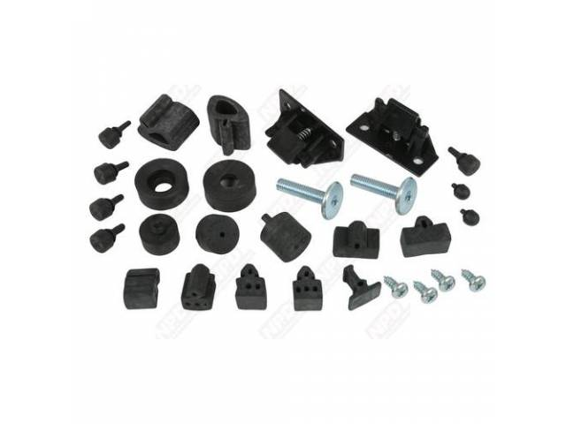 Bumper Kit, Rubber, Complete, Incl Hood Wedges And