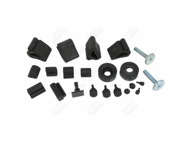 BUMPER KIT RUBBER COMPLETE REPROThese complete rubber bumper