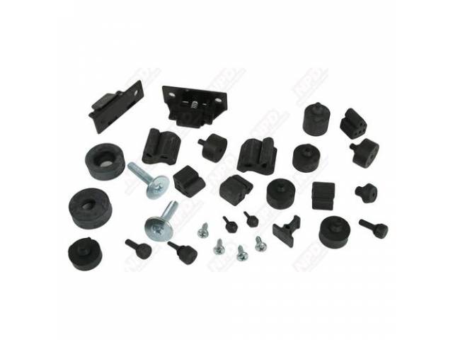 Bumper Kit Rubber Complete Incl Hood Wedges And