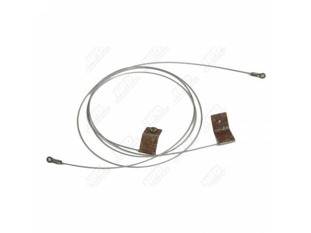Convertible Top Tension Cables, Pair