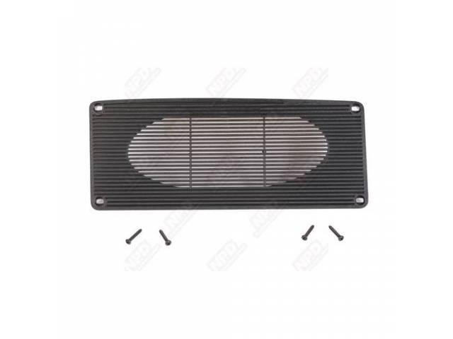 Grille Dash Panel Speaker Black Repro Designed To
