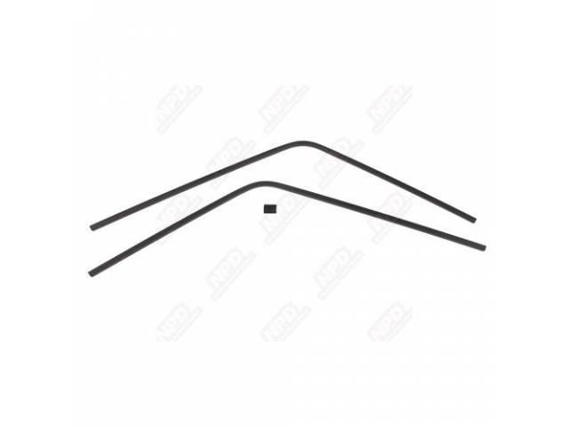 Molding Set, Rear Window, Inner, Black, (3) Piece