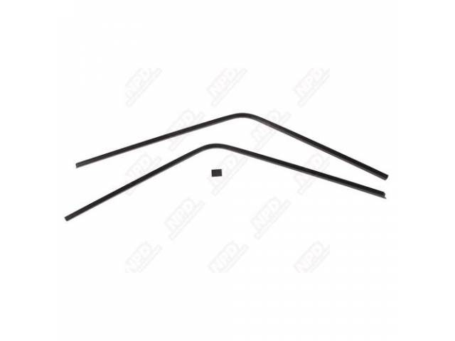 Molding Set Rear Window Inner Black 3 Piece