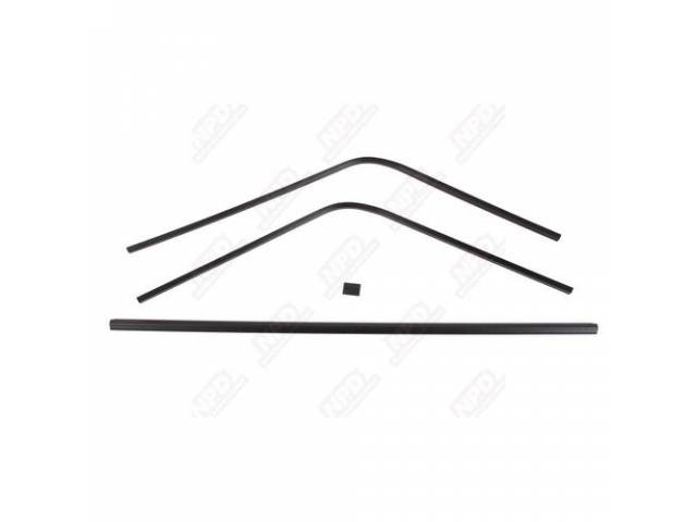 Molding Set, Rear Window, Inner, Black, (4) Piece