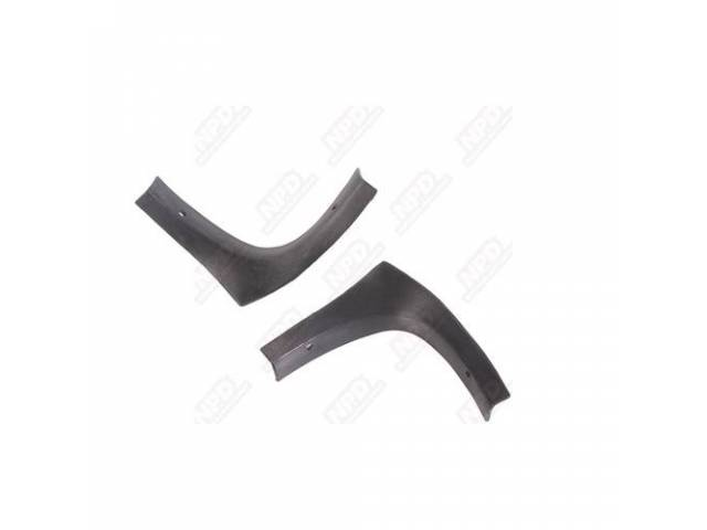 Molding Corner Set, Rear Window, Lower Inner, Black,