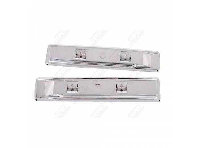 Arm Rest Bases, Front, Chrome, For 13 Inch