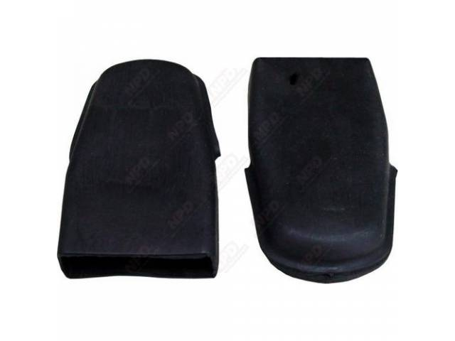 Mounting Covers, Front Seat Belt, Black, Rubber, Pair,
