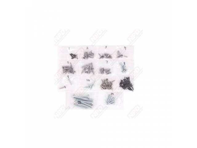 Screw Kit, Interior Trim,  (108), Screws Are