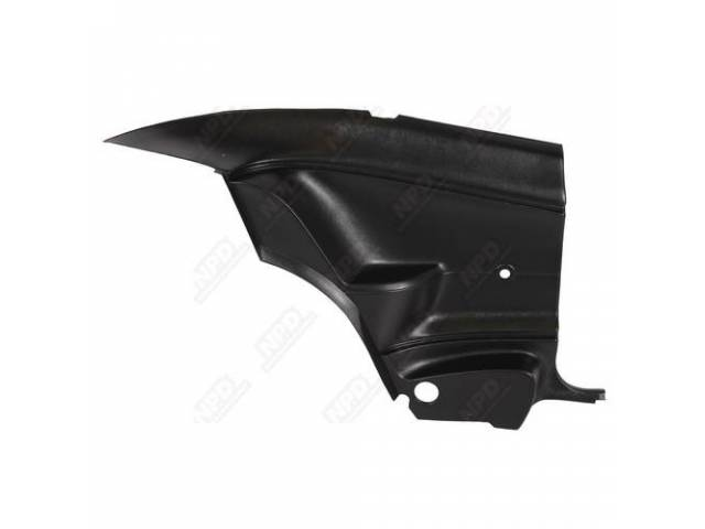 Interior Rear Quarter Trim Panels Black Molded Plastic