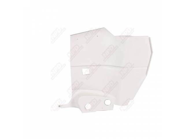 Interior Rear Quarter Trim Panels White Molded Plastic