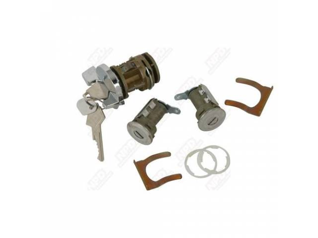 Lock Set Door Lock And Ignition W/Keys 2