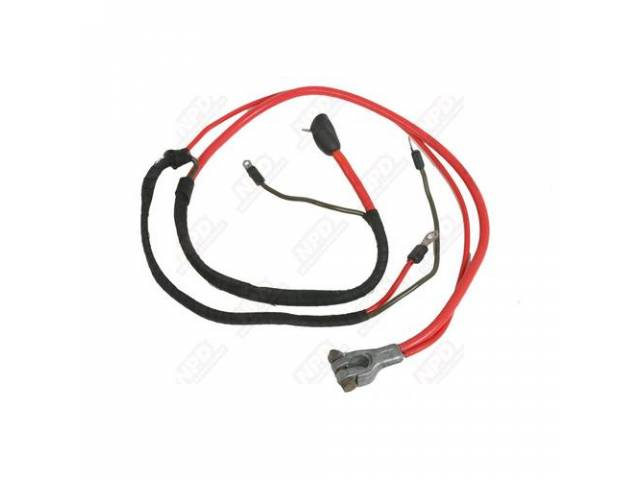 Cable, Battery, Positive, Correct Style Terminals, Split Starter