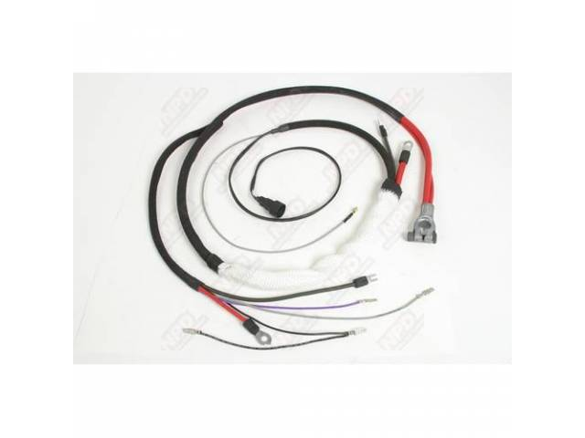 Cable, Battery, Positive, Incl Correct Style Terminals, Bolt