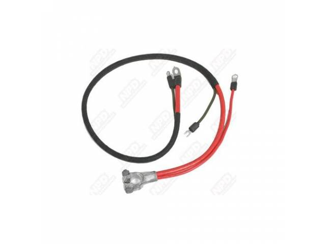 Cable, Battery, Positive, Correct Style Terminals, Repro