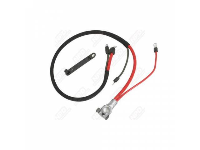 Cable Battery Positive Correct Style Terminals Repro