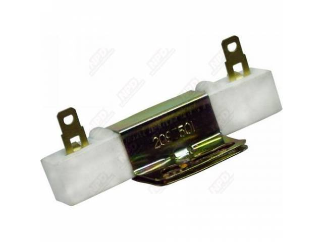Resistor Ballast Incl Correct Anodized Hold Down Bracket