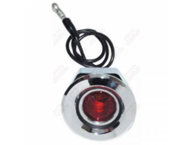 Light Assy Side Marker Rear Flat Style Red