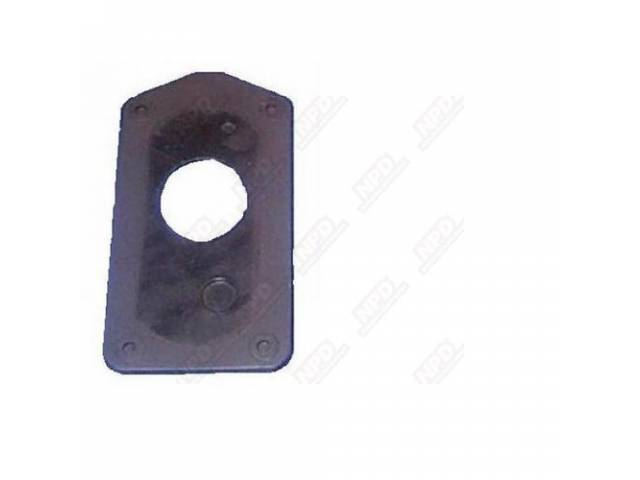 Gas Filler Neck Seal, Trunk Floor, Steel Reinforced