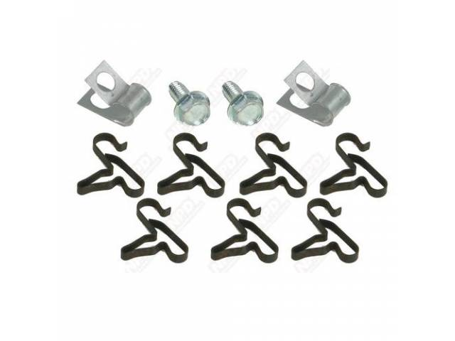 Fuel Line Clip Kit, 3/8 Inch Fuel Lines