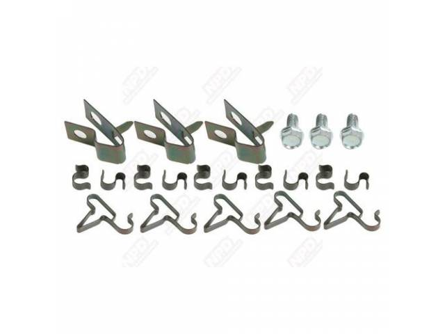 Fuel Line Clip Kit, 3/8, 5/16 And 1/4