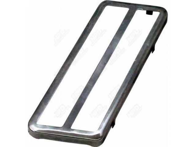 Bezel Accelerator Pedal Trim Stainless Steel Rerpo