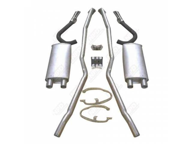 Exhaust System Kit Headpipes Mufflers Tips And Hangers