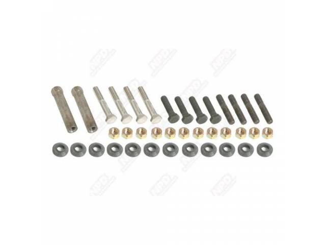 Fastener Kit, Exhaust Manifold, Incl Correct Bolts, Studs,