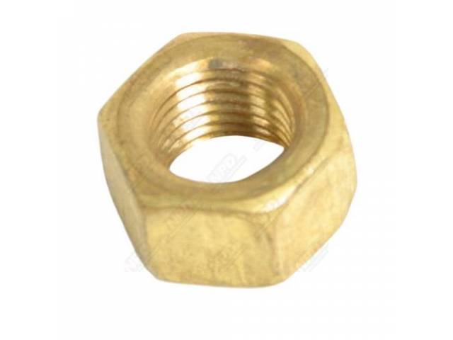 Brass Nut 3/8 Inch Exhaust Manifold Nut