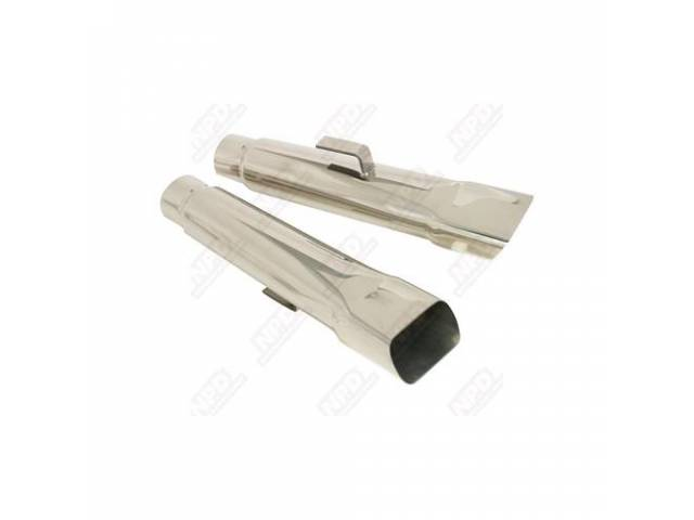 Exhaust Tips 2 1/4 Inch Stainless Steel