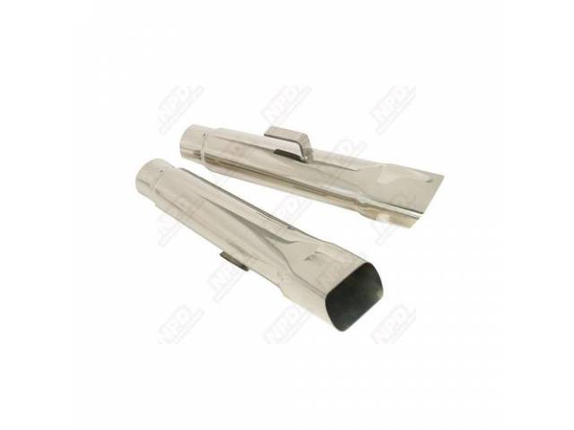 Exhaust Tips 2 Inch Replacement Part Stainless Steel
