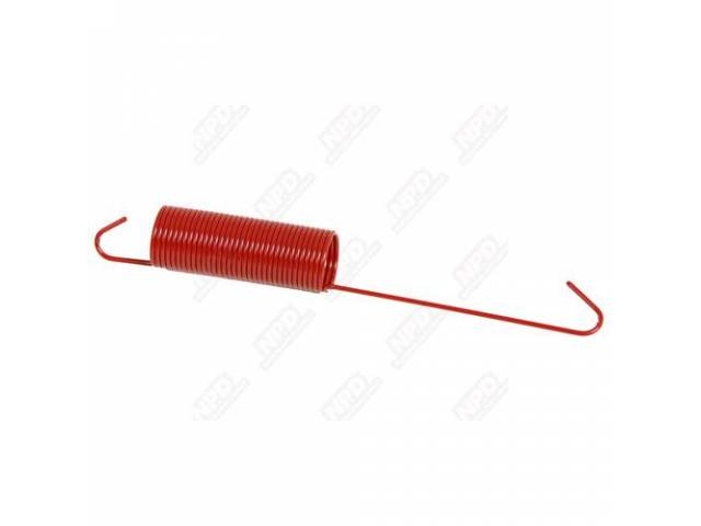 Spring, Throttle Return, Correct 33 Coil Red Spring, Powder Coated Finish, Repro
