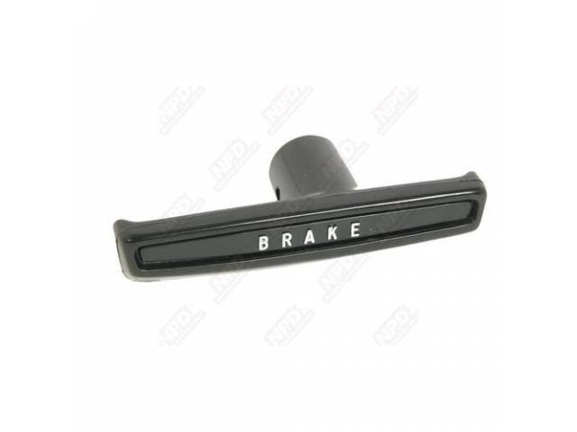 Parking Brake Release Handle, T-Handle, Injection Molded Abs-Plastic