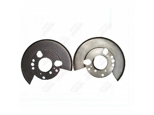 Disc Brake Shields Behind Rotors
