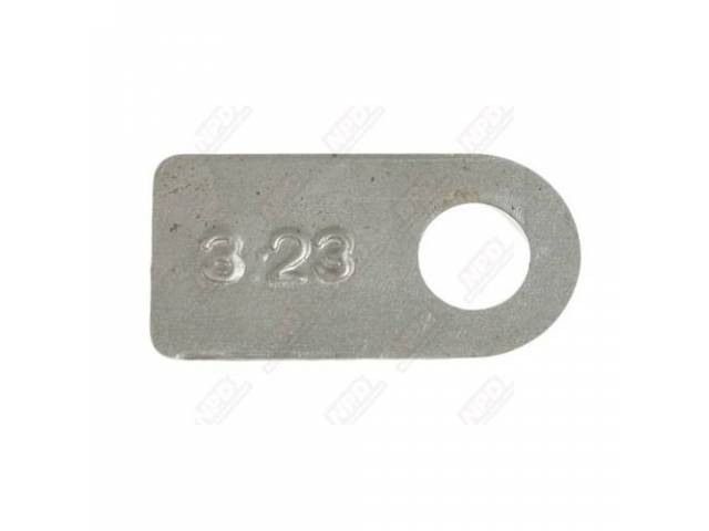 Tag, Rear End, Silver, W/ 3.23 Rear Gears,