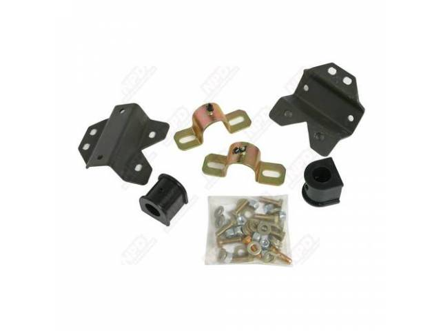 Sway Bar Bracket And Bushing Set, Replaces Triangle Type Bushing And End Link Brackets, Poly,Energy Suspension