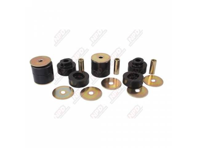 Sub Frame Mount Bushing Kit, 73-74 Dodge And Plymouth B-Body And 75-81 Dodge And Plym