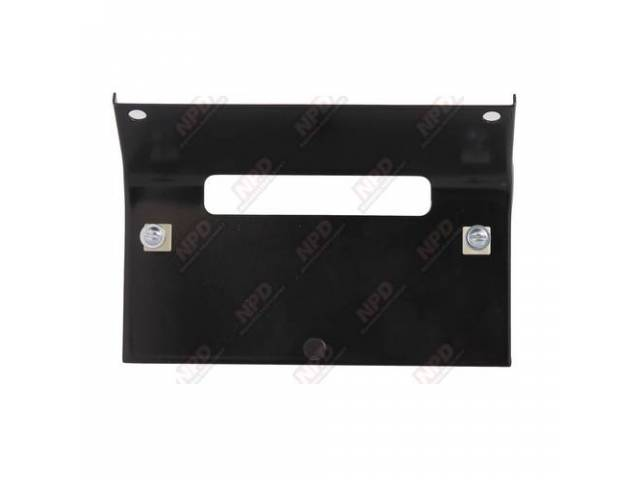 BRACKET FRONT LICENSE PLATE 18 GA STEEL POWDER