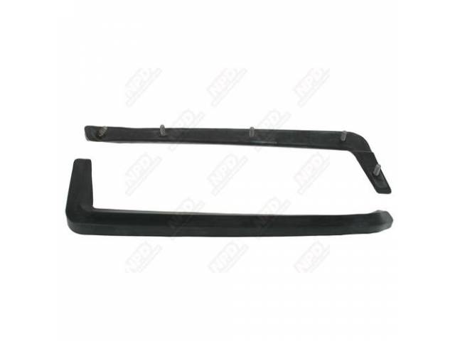 Front Bumper Guard Cushions, Steel Reinforced With Studs