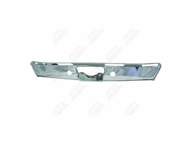 Bumper Rear Repro Oe Quality Chrome Finish Made