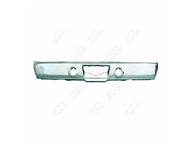 Bumper, Rear, Repro, Oe Quality Chrome Finish, Made