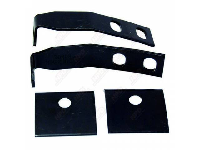 Bracket Set Rear Bumper Guard 4 Piece Edp