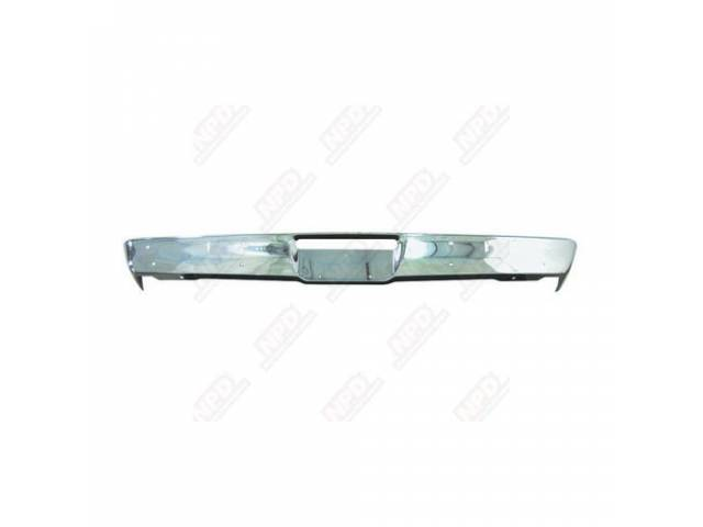 BUMPER FRONT CHROME W/ JACK SLOTS REPROThese bumpers