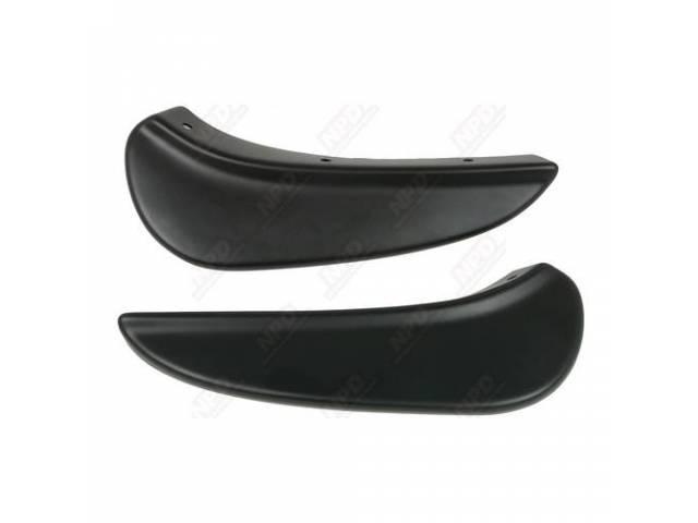 Spoiler Front Aar Style Pair Matte Black Polyethylene