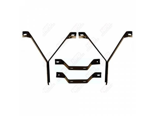 Bracket Set Front Bumper Incl 2 Main Front