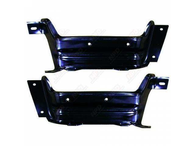 Bracket Set Rear Bumper 2 Pc Stamped As