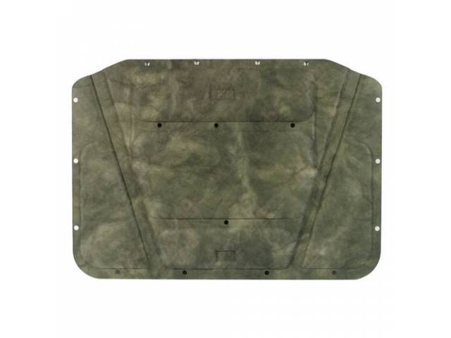 Molded Hood Pad, Correct Molded, Die Cut Holes