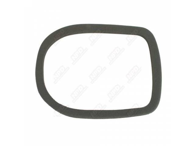 Heater Duct Seal, To Body, Thick Dense Black