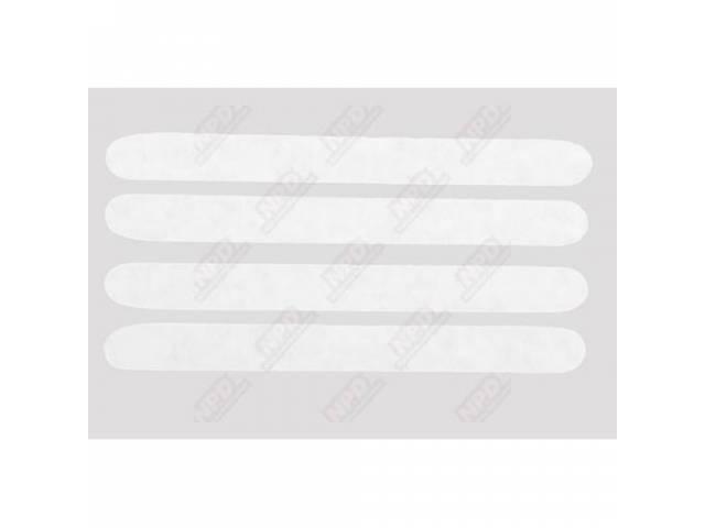 Stripe Kit Hood Turn Indicator Blackout White